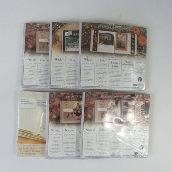 Creative Memories Lot of 6 7x7 Refill Pages